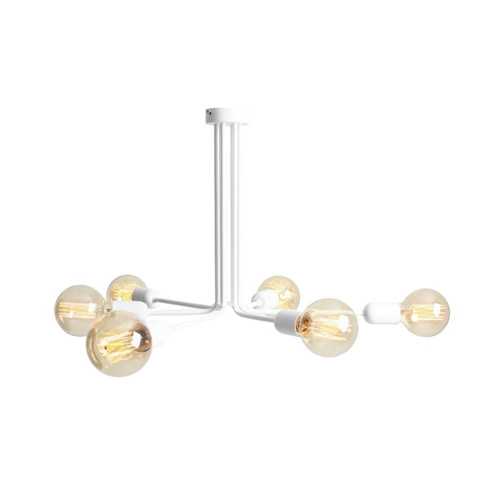 Custom Form Biele závesné svietidlo na 6 žiaroviek Custom Form Vanwerk
