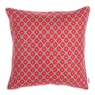 Červená obliečka na vankúš Apolena Rustic Pattern, 43×43 cm