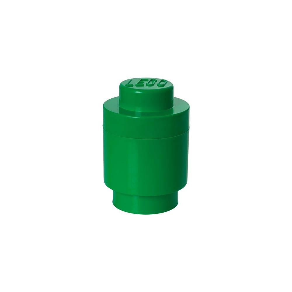 LEGO® Zelený úložný okrúhly box LEGO®, ⌀12,5cm