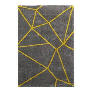 Sivo-žltý koberec Think Rugs Royal Nomadic Grey & Yellow, 120 × 170 cm