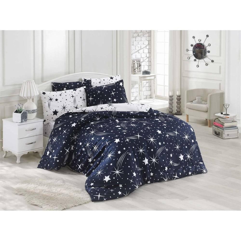 Eponj Home Obliečky s plachtou na dvojlôžko Night Muse, 200×220 cm