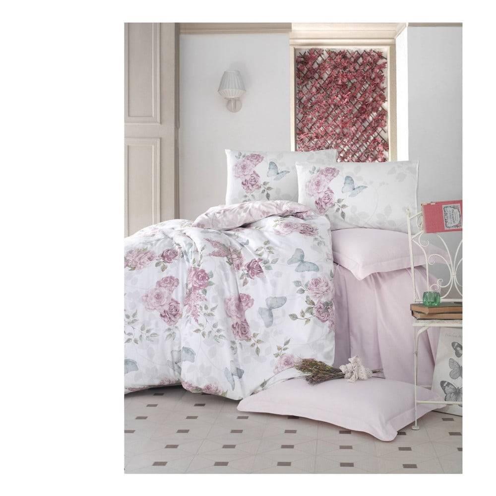 Cotton Box Obliečky z ranforce bavlny s plachtou na dvojposteľ Rosell, 200 x 220 cm