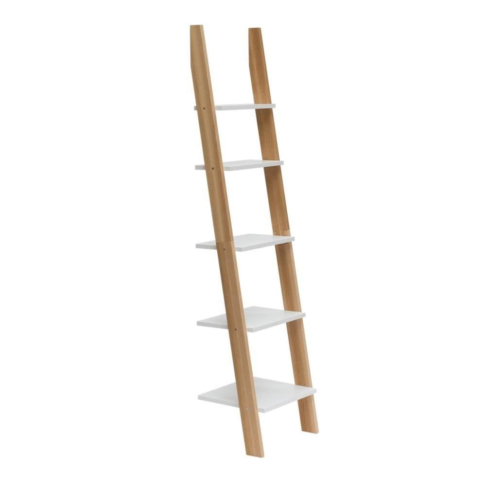 Ragaba Biela rebríková polica Ragaba ASHME, šírka45cm