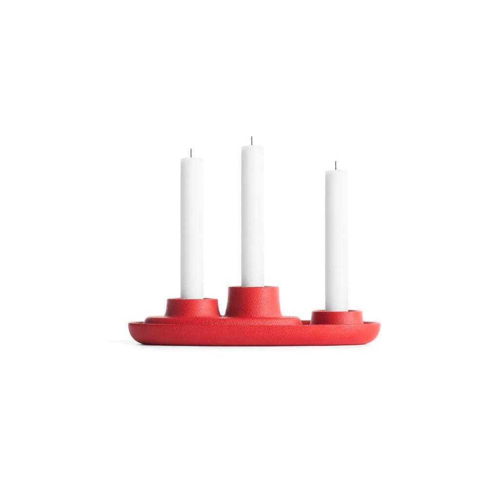 EMKO Červený svietnik EMKO Aye Aye Three Candles