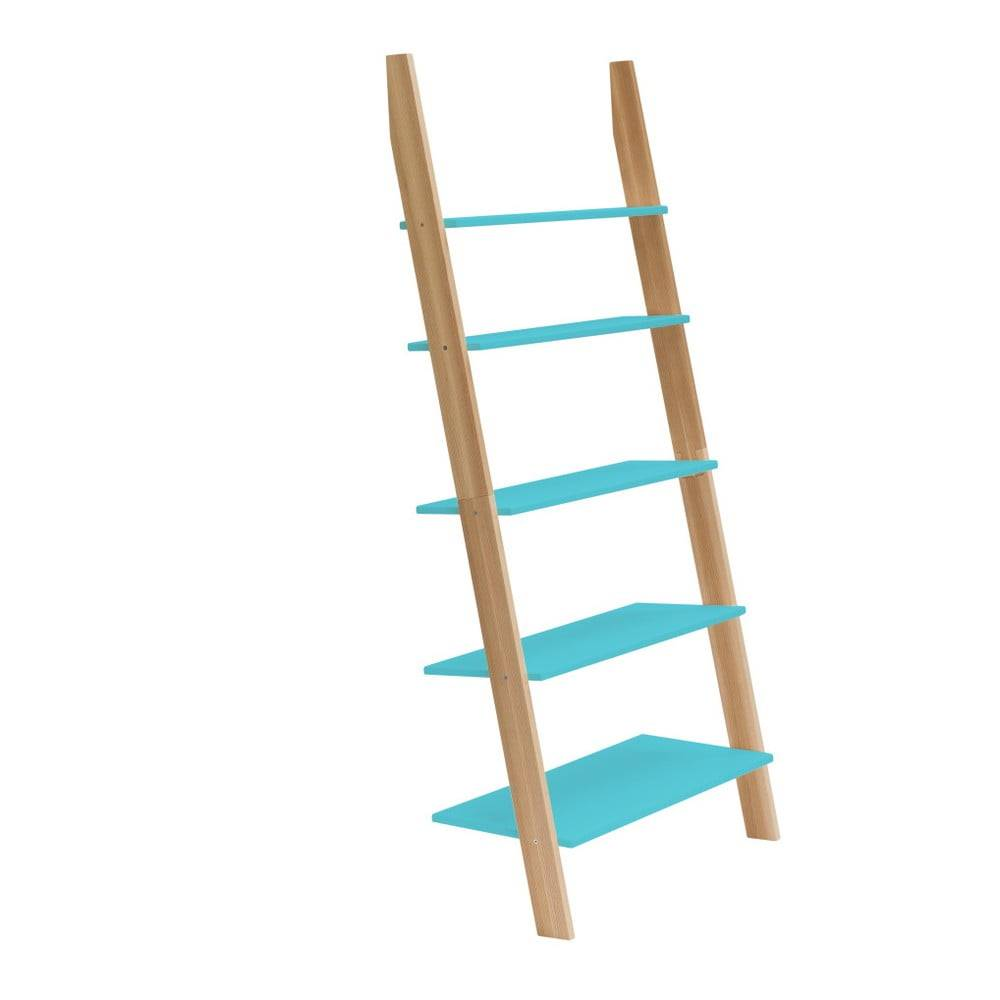 Ragaba Tyrkysová rebríková polica Ragaba ASHME, šírka85cm