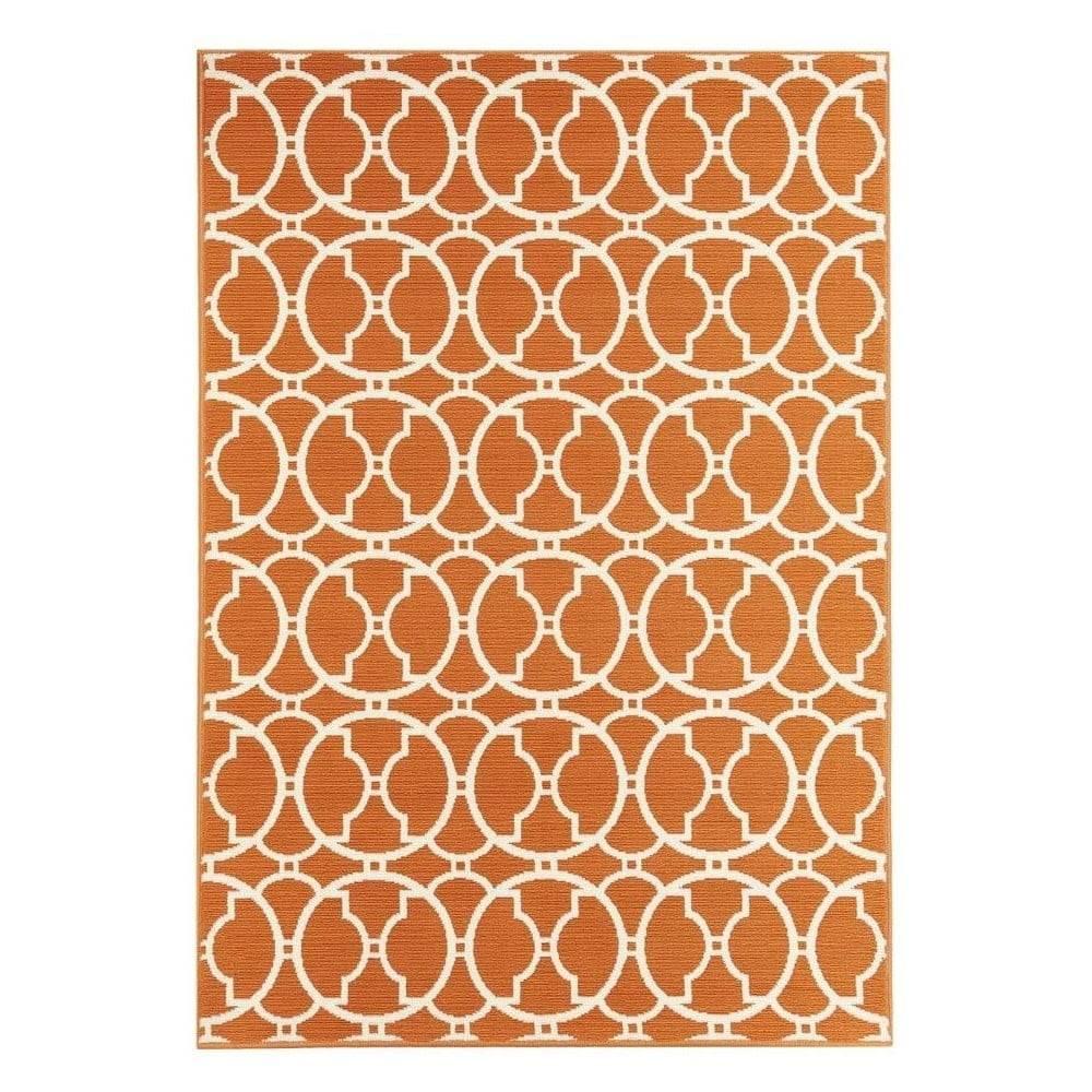Floorita Oranžový vonkajší koberec Floorita Interlaced, 133x190 cm