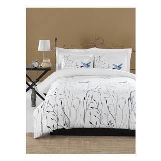 Obliečky s plachtou na dvojlôžko z ranforce bavlny Mijolnir Fidella Blue, 200 × 220 cm
