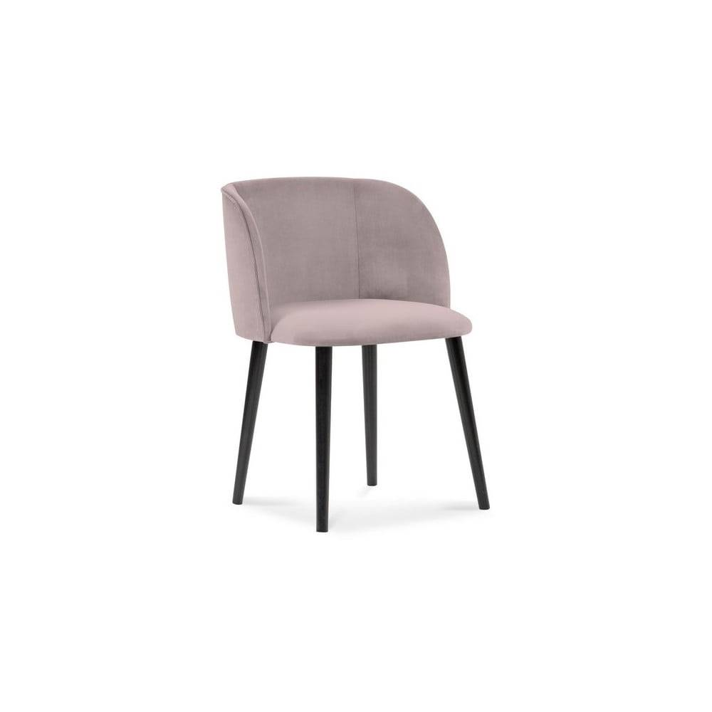 Windsor & Co Sofas Levanduľovofialová jedálenská stolička so zamatovým poťahom Windsor & Co Sofas Aurora