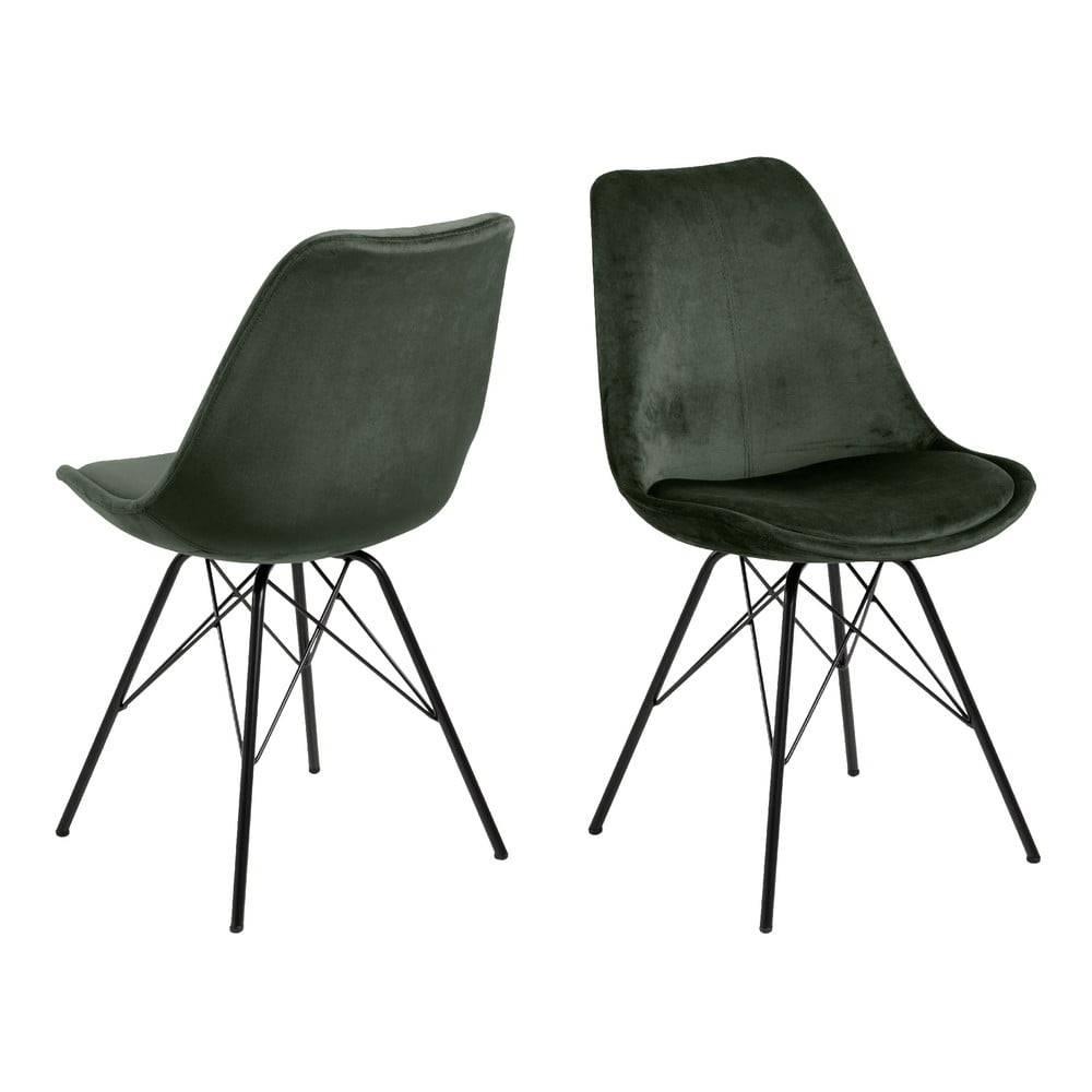 Actona Tmavozelená jedálenská stolička Actona Eris