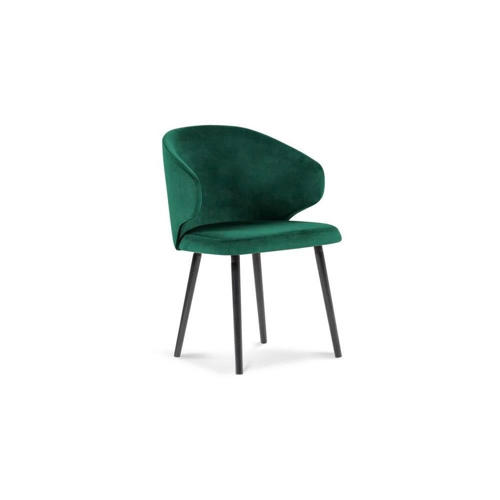 Windsor & Co Sofas Tmavozelená jedálenská stolička so zamatovým poťahom Windsor & Co Sofas Nemesis