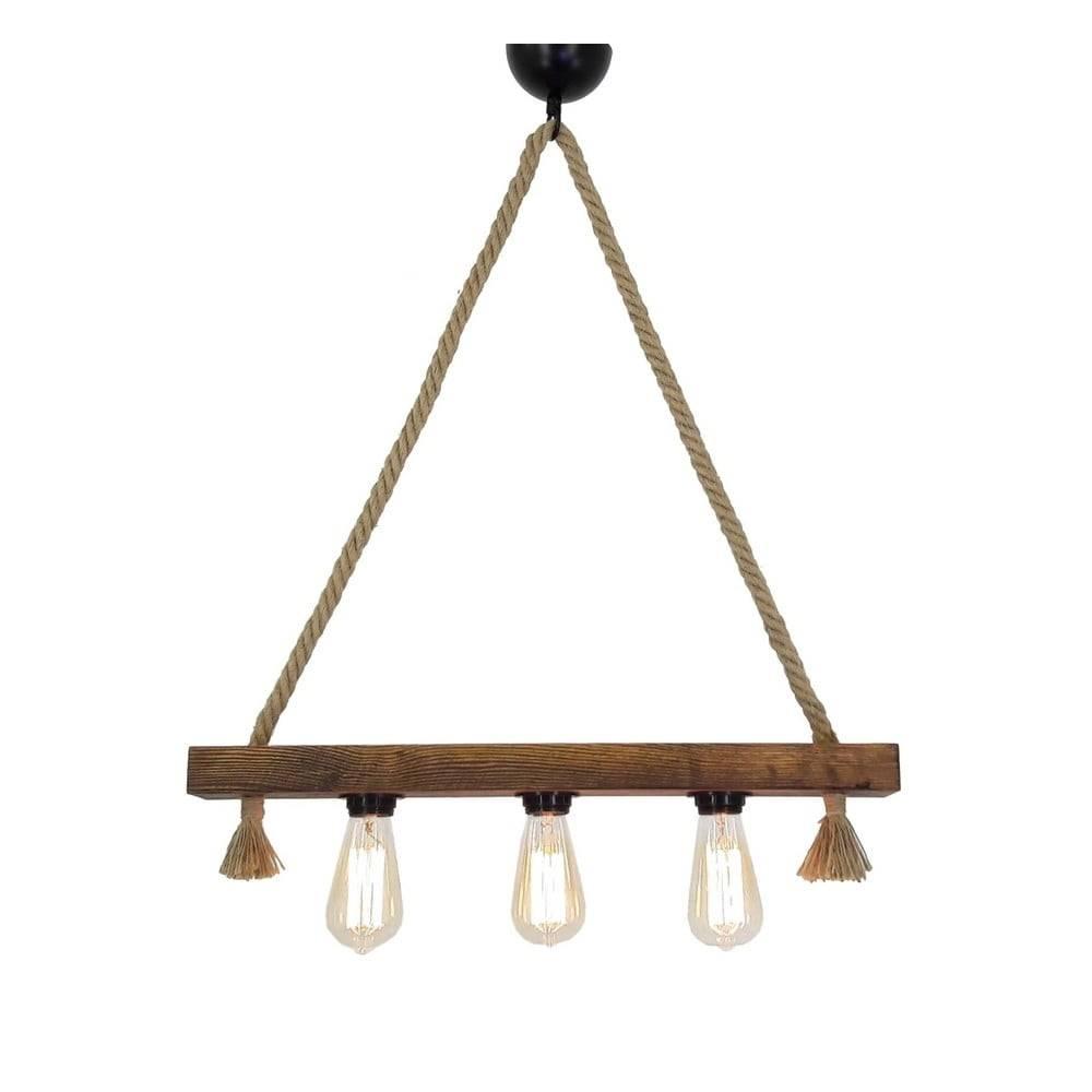 All Design Drevené stropné závesné svietidlo Kutuk