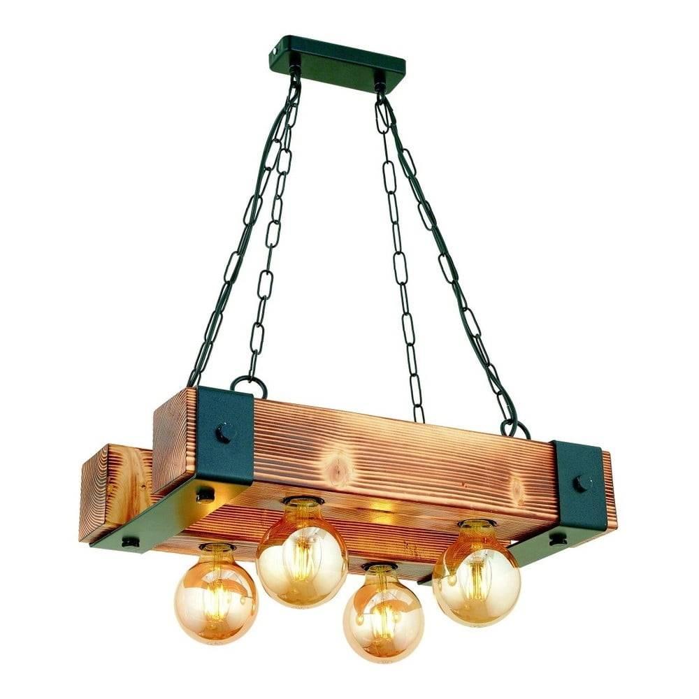Beacon Závesné svietidlo z hrabového dreva Talu