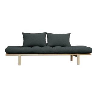 Pohovka s tmavosivým poťahom Karup Design Pace Natural/Slate Grey