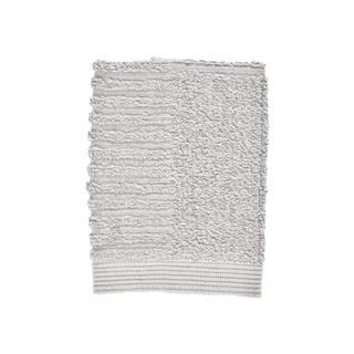 Svetlosivý uterák zo 100% bavlny na tvár Zone Classic Soft Grey, 30×30 cm