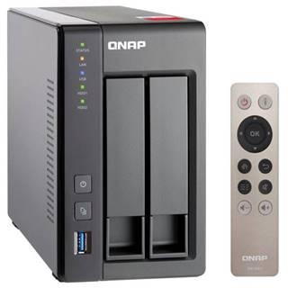 Sieťové úložište Qnap TS-251+-2G sivá 2xHDD, CPU 2GHz, 2GB, 2xGb/s,