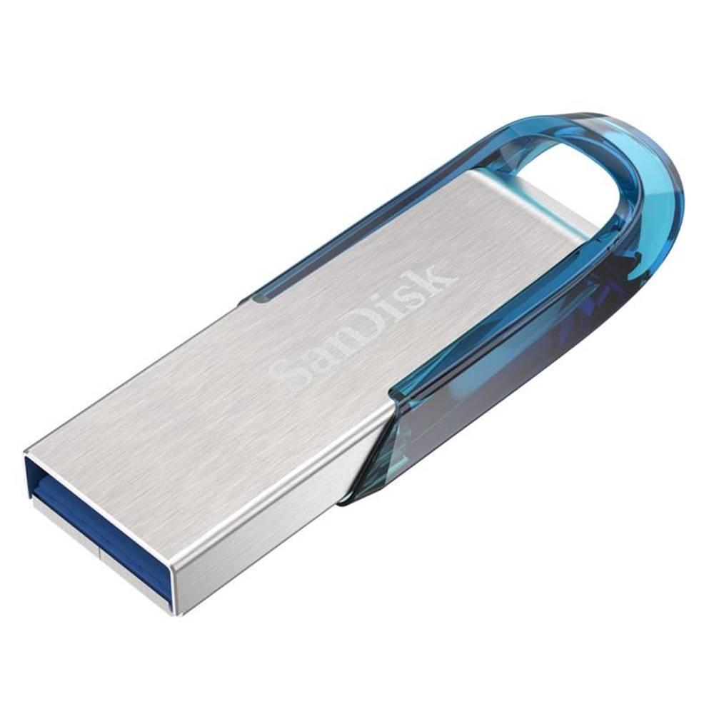 Sandisk USB flash disk Sandisk Ultra Flair 128GB strieborný/modrý