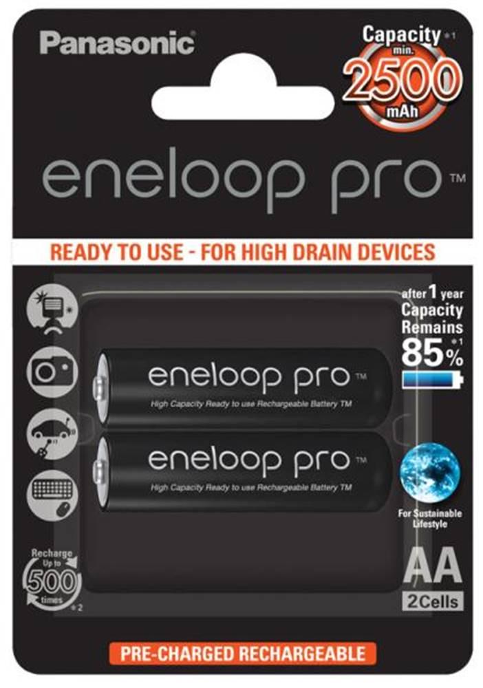 Panasonic Batéria nabíjacie Panasonic Eneloop Pro AA, HR06, 2500mAh, Ni-MH,