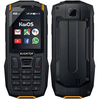 Mobilný telefón Aligator K50 eXtremo čierny/oranžový