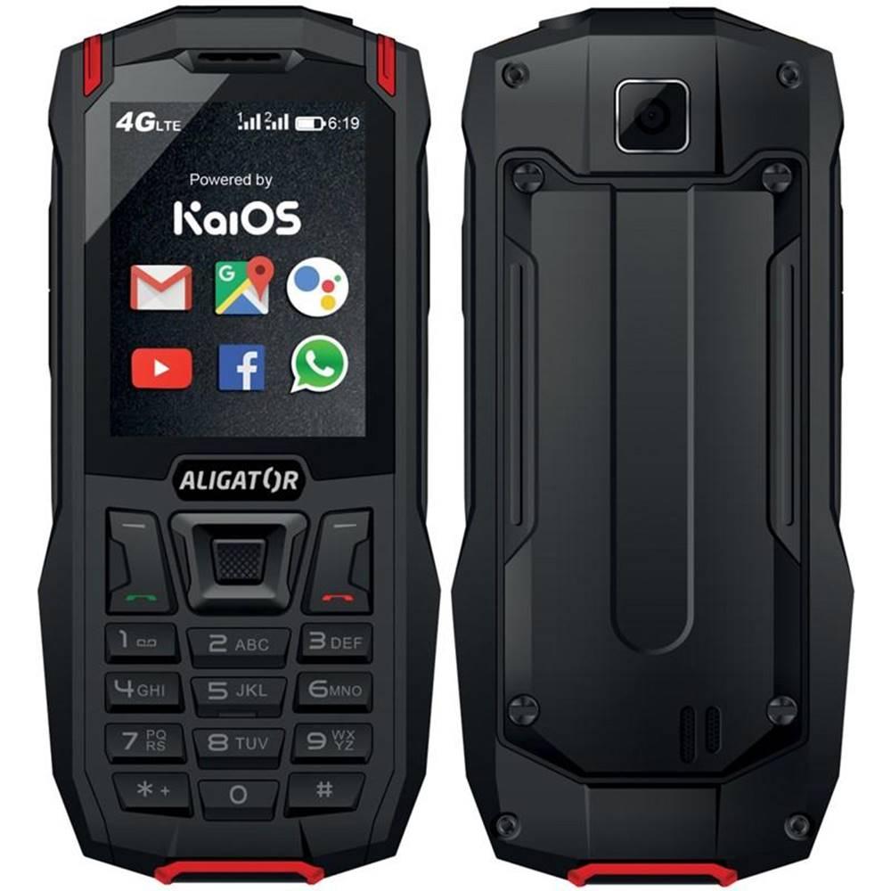 Aligator Mobilný telefón Aligator K50 eXtremo čierny/červený
