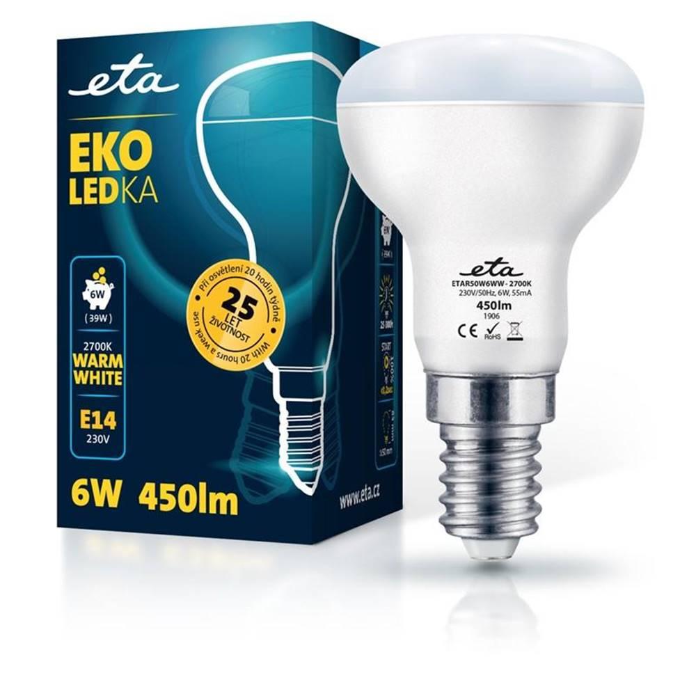 Eta LED žiarovka ETA EKO LEDka reflektor 6W, E14, teplá biela