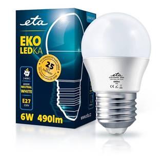 LED žiarovka ETA EKO LEDka mini globe 6W, E27, neutrálna biela