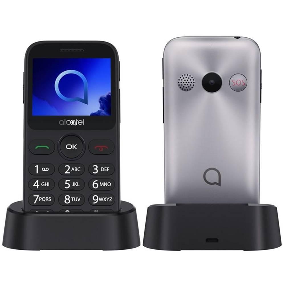 ALCATEL Mobilný telefón Alcatel 2019G strieborný