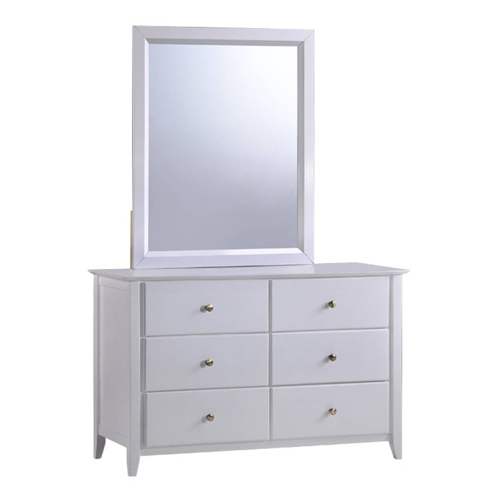 Tempo Kondela Komoda so zrkadlom biela JAVA 6