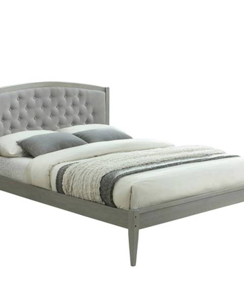 Sivá posteľ Tempo Kondela