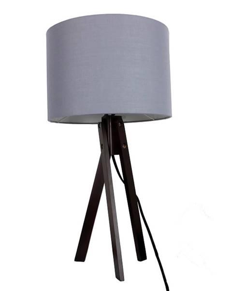 Sivá stolová lampa Tempo Kondela