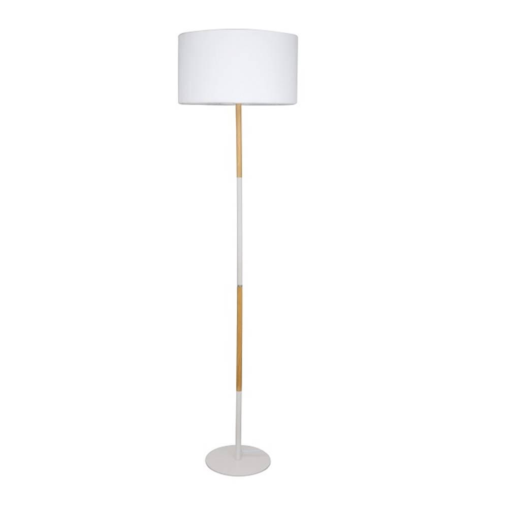 Tempo Kondela Stojacia lampa biely hliník/vzor dreva CINDA TYP 20 YF6046
