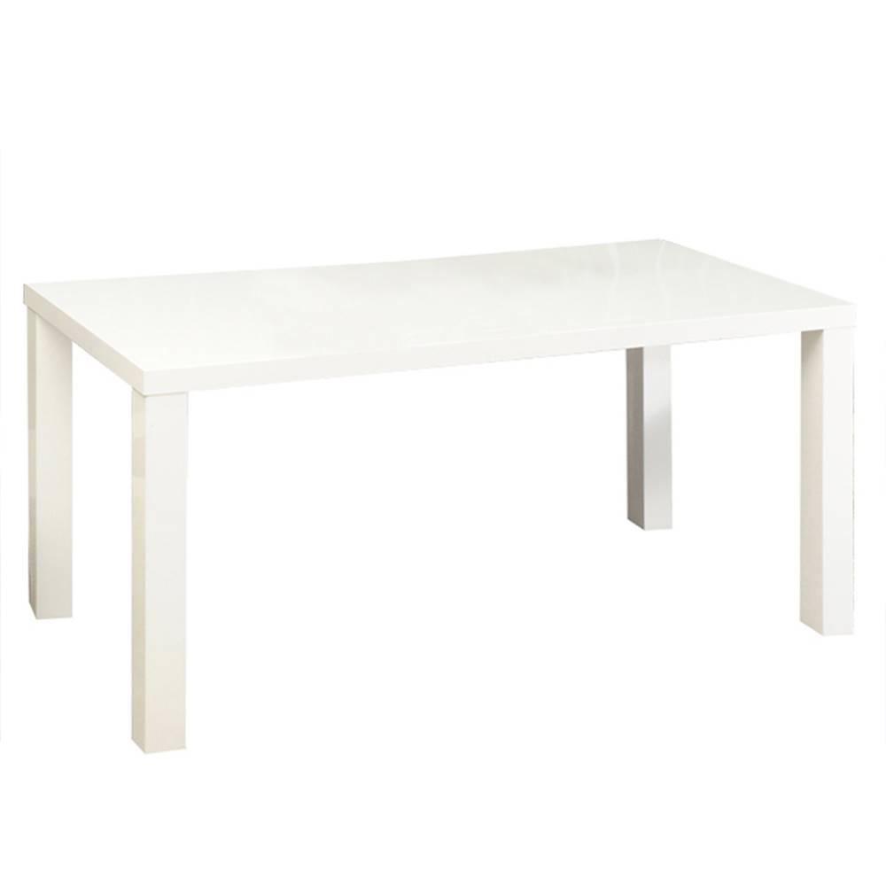 Tempo Kondela Jedálenský stôl rozkladací biela vysoký lesk HG ASPER NEW TYP 1