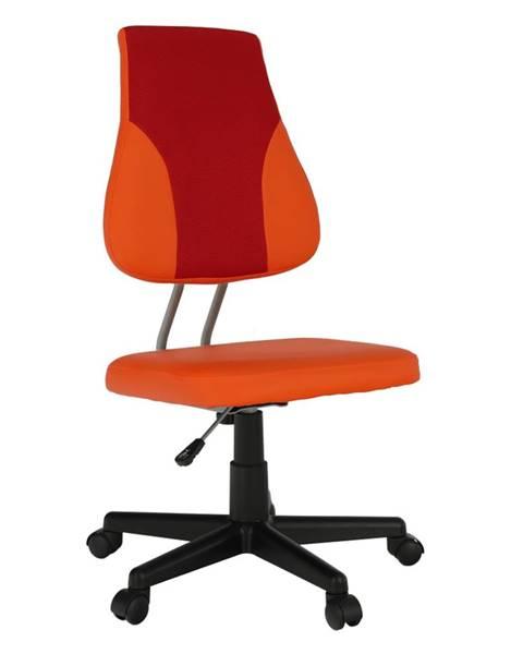 Oranžová stolička Tempo Kondela