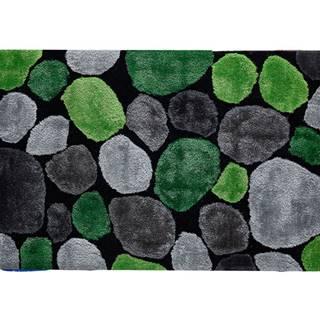 Koberec zelená/sivá/čierna 120x180 PEBBLE TYP 1