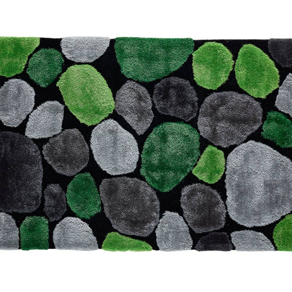 Tempo Kondela Koberec zelená/sivá/čierna 100x140 PEBBLE TYP 1