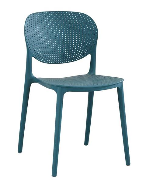 Modrá stolička Tempo Kondela