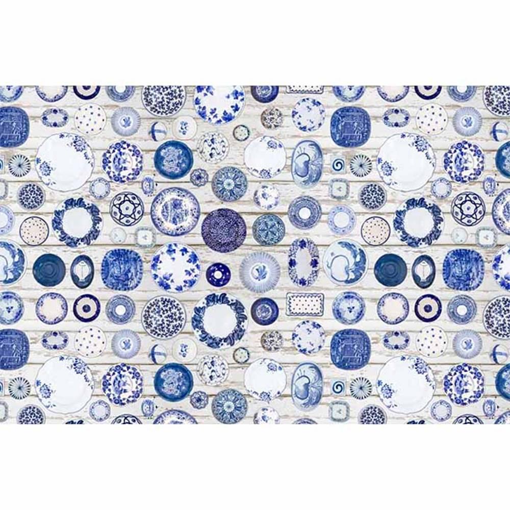 Tempo Kondela Koberec modrá/krémová 80x200 PARLIN