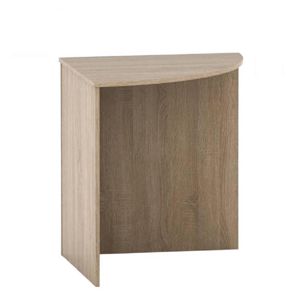 Tempo Kondela Stôl rohový oblúkový dub sonoma TEMPO ASISTENT NEW 024