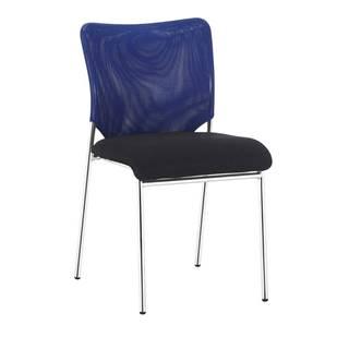 Zasadacia stolička modrá/čierna/chróm ALTAN
