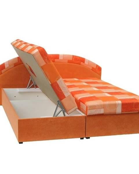 Oranžová posteľ Tempo Kondela