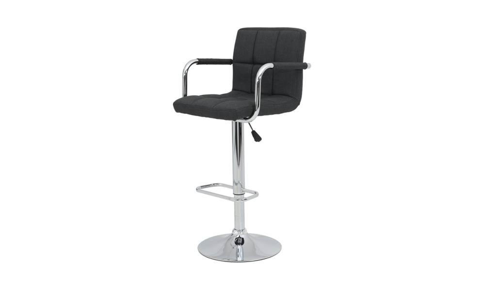 Sconto Barová stolička GLORIA čierna/chróm