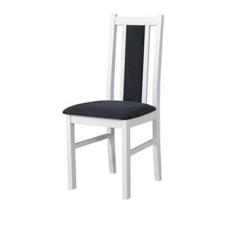 Jedálenská stolička BOLS 14 tmavosivá/biela