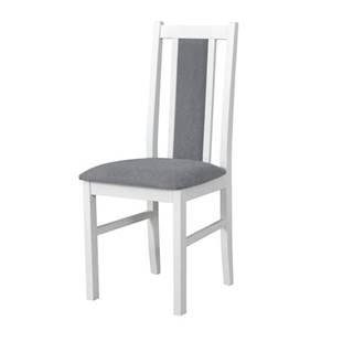 Jedálenská stolička BOLS 14 sivá/biela