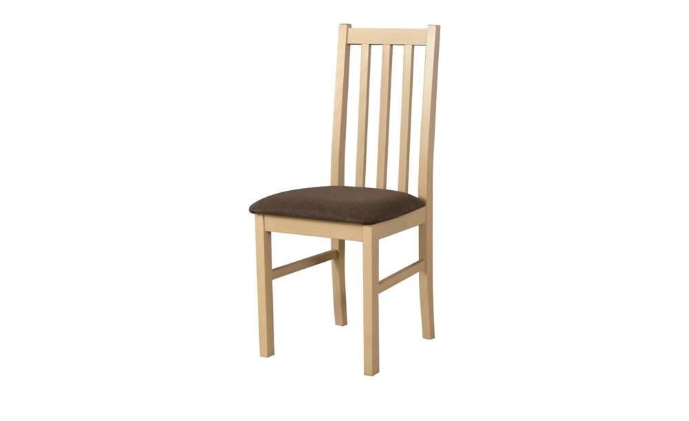 Sconto Jedálenská stolička BOLS 10 dub sonoma/hnedá