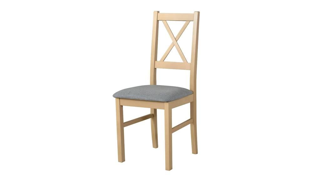 Sconto Jedálenská stolička NILA 10 svetlosivá/dub sonoma