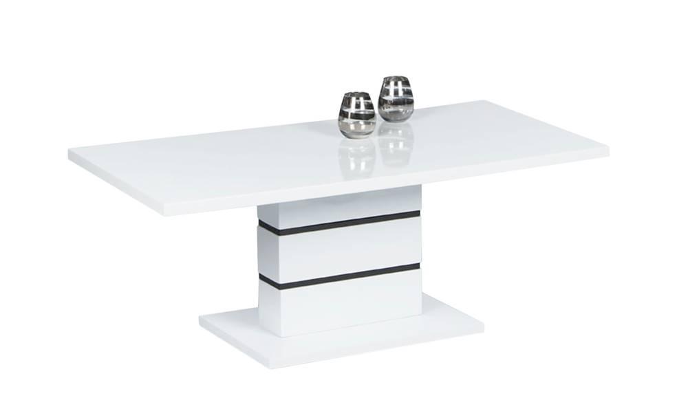 Sconto Konferenčný stolík CLARA biela