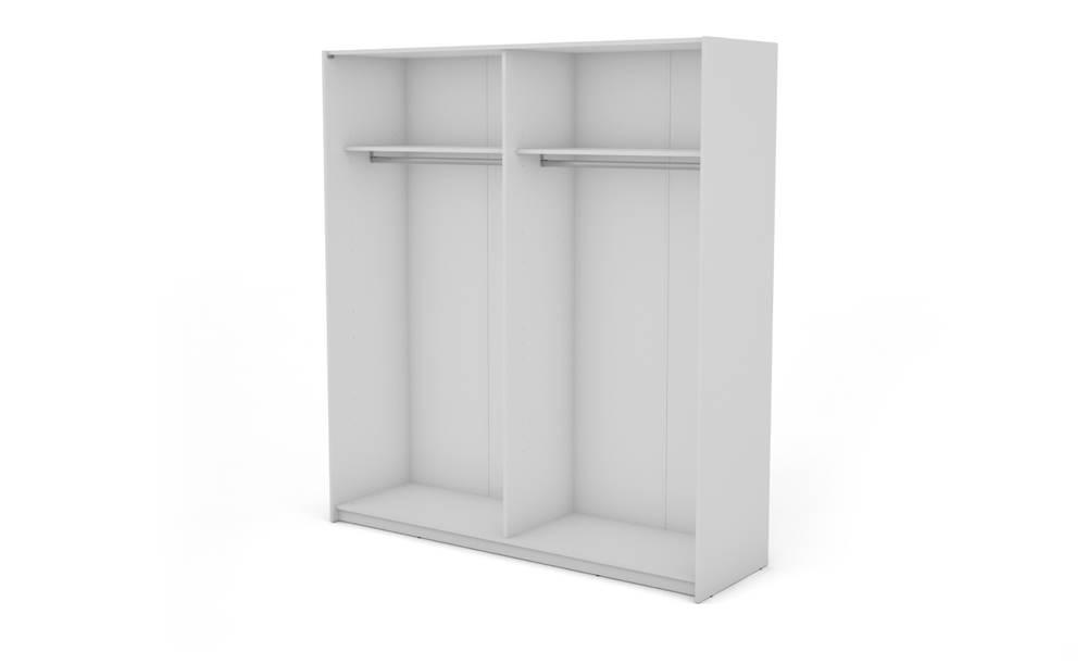 Sconto Korpus skrine BOSTON 150 biela, šírka 200 cm