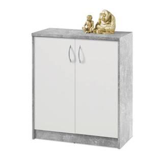 Komoda OPTIMUS 38-001 beton/biela