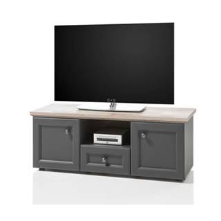TV stolík TOSKANA 5 timber wood/sivá