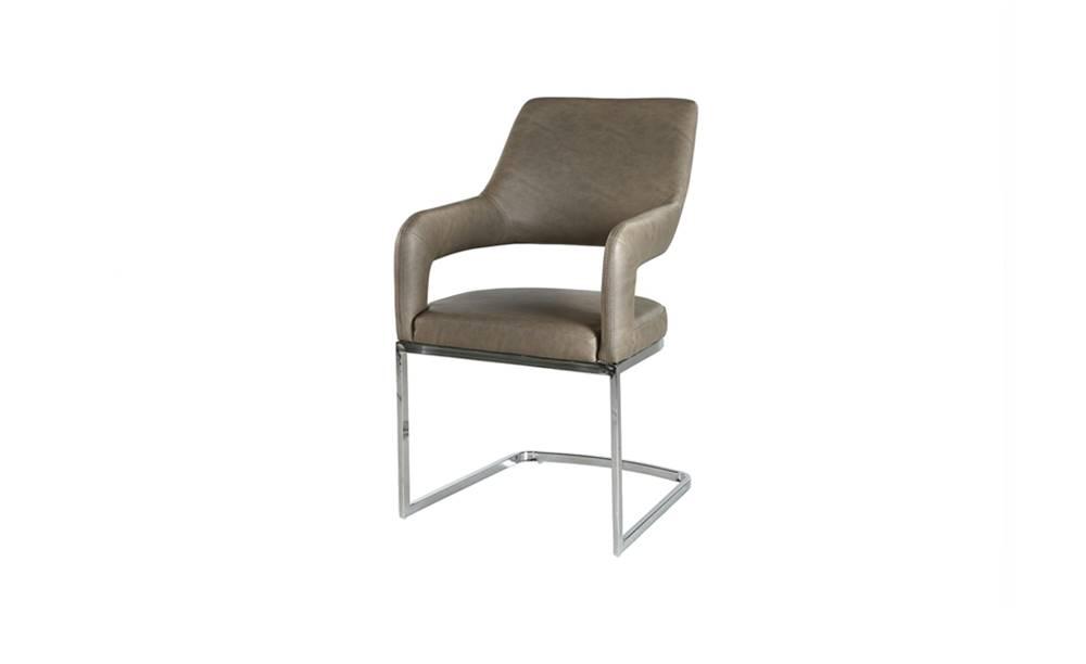 Sconto Jedálenská stolička BEATE hnedá/chróm