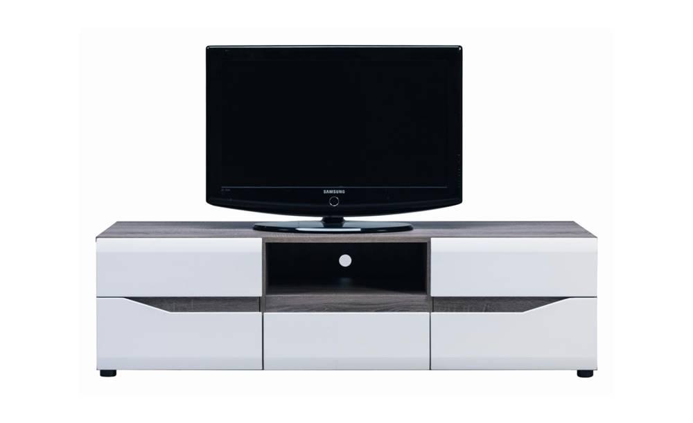 Sconto TV stolík LUCY LI 1 dub sonoma truffel/biely lesk